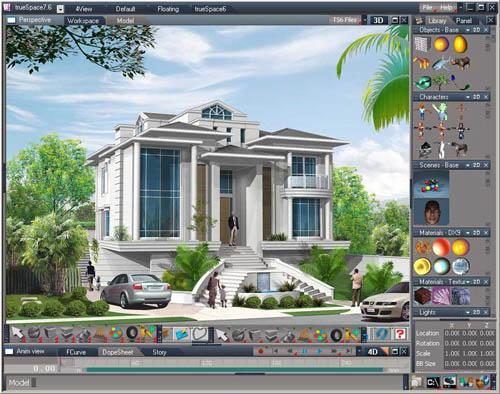 Truespace dise o 3d ahora gratuito software gratis for Programas de arquitectura 3d